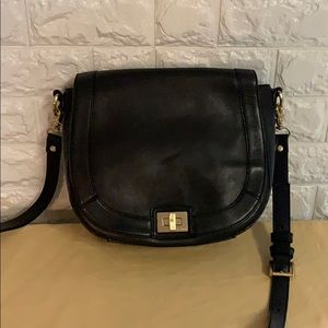 Brahmin Bags - BRAHMIN BLACK LEATHER CROSSBODY